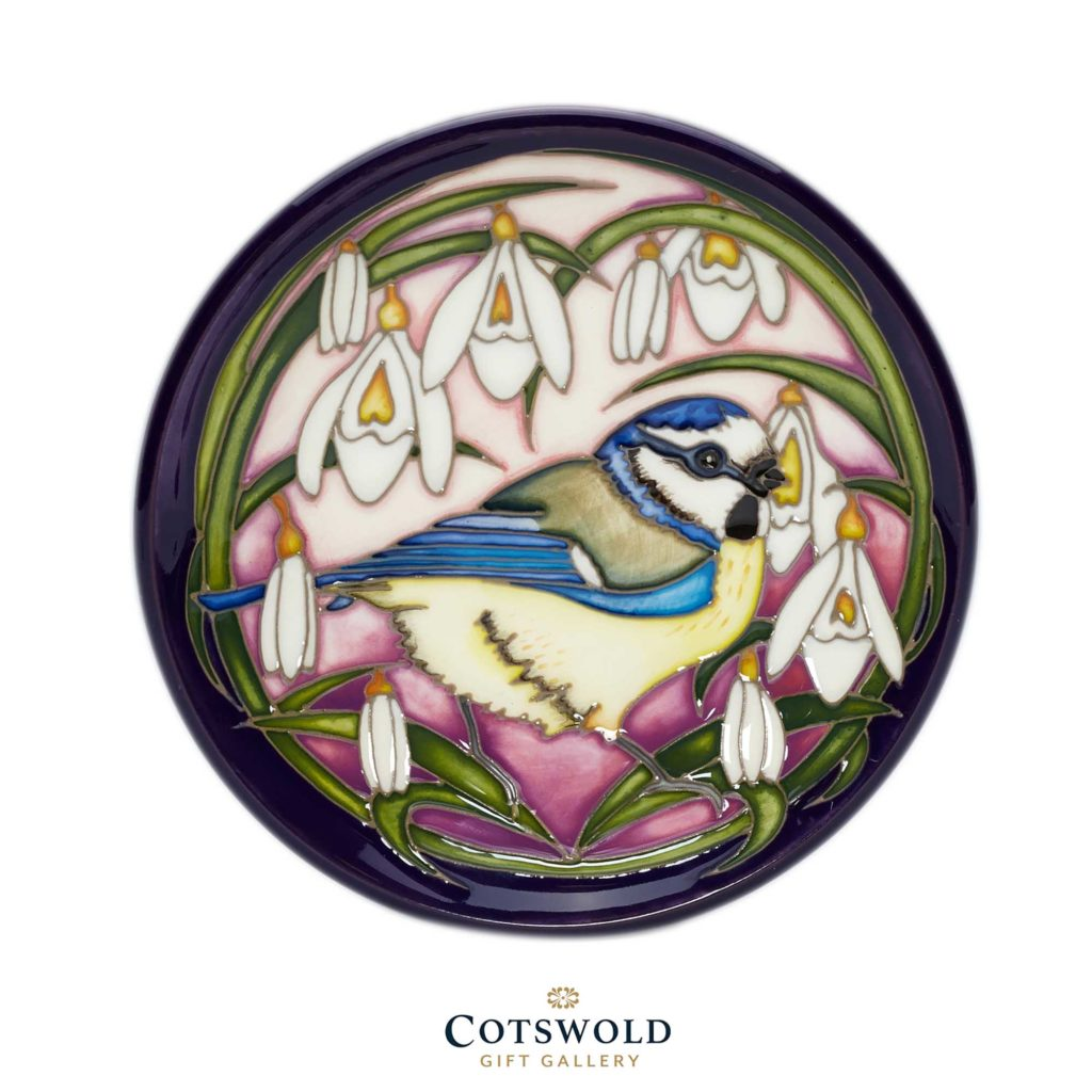 Moorcroft Pottery Blue Tits Bounty Mauve Colourway 02 1024x1024