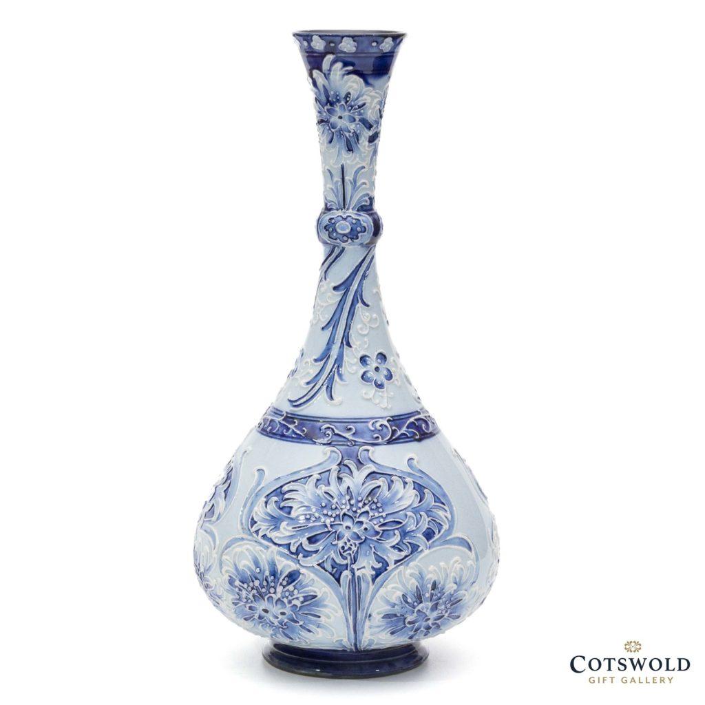 William Moorcroft Florianware Cornflower Vase 21 1024x1024