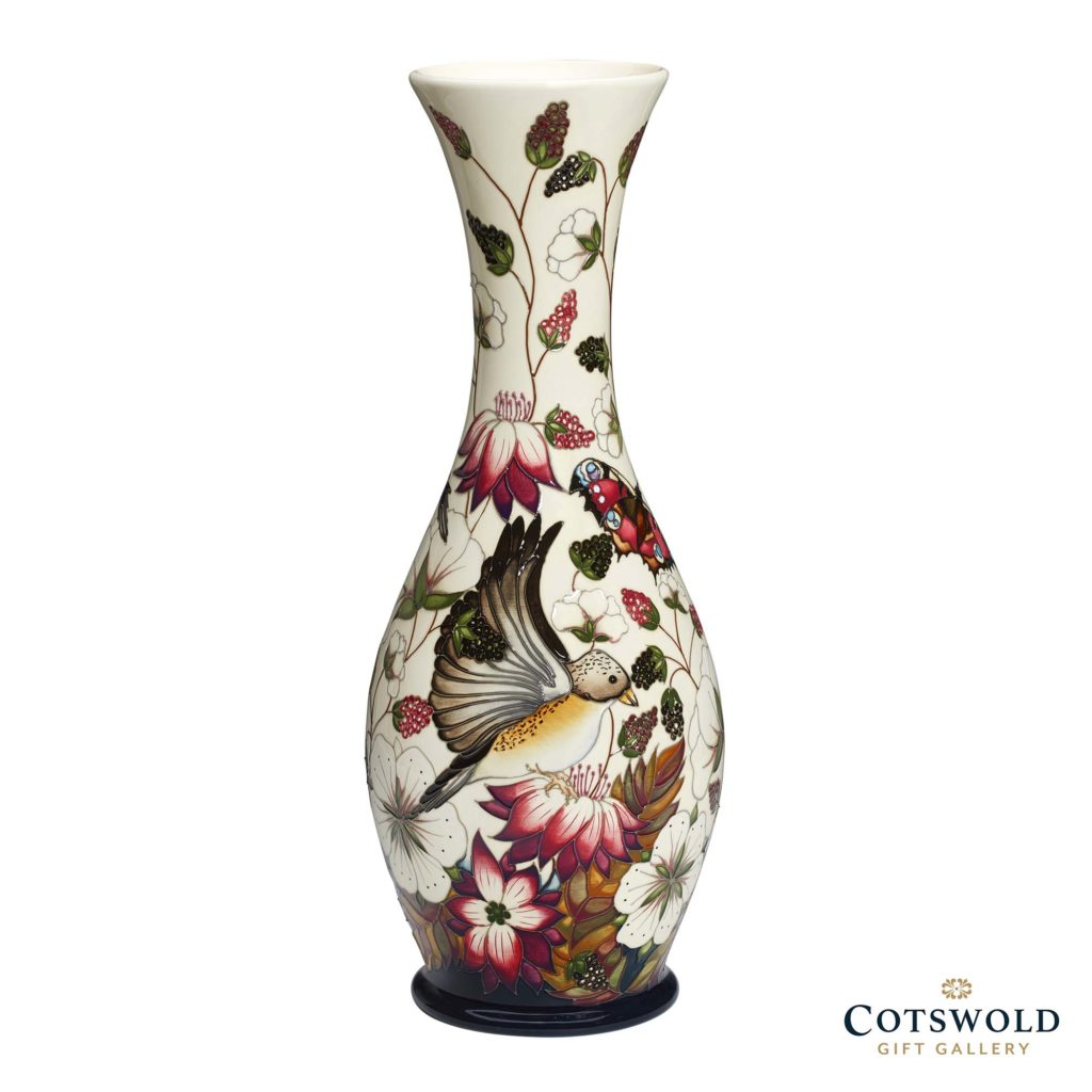 Moorcroft Pottery Brambling Vase 1 1024x1024