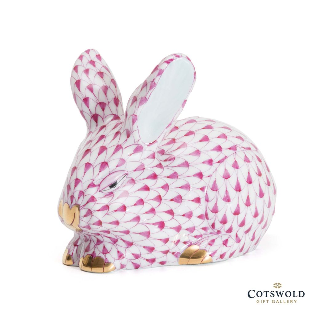 Herend Porcelain Rabbit Pink 15570 2 1024x1024