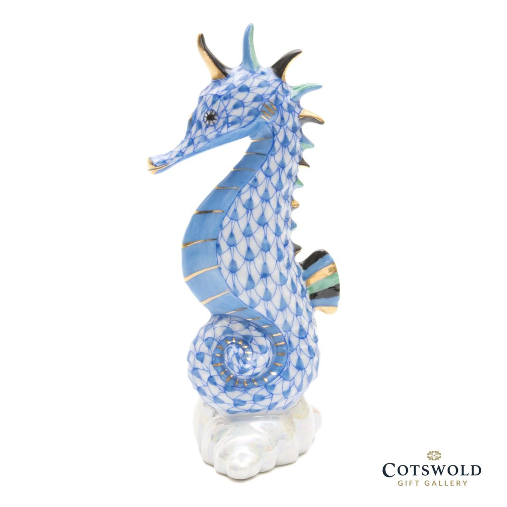 Herend Porcelain Seahorse Blue 2 1024x1024