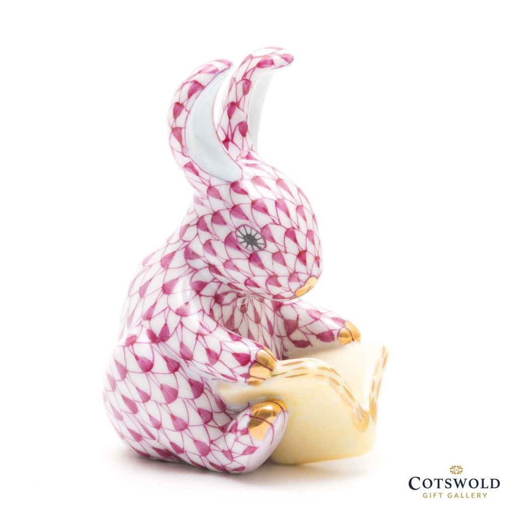 Herend Porcelain Storybook Bunny Pink 1 1024x1024