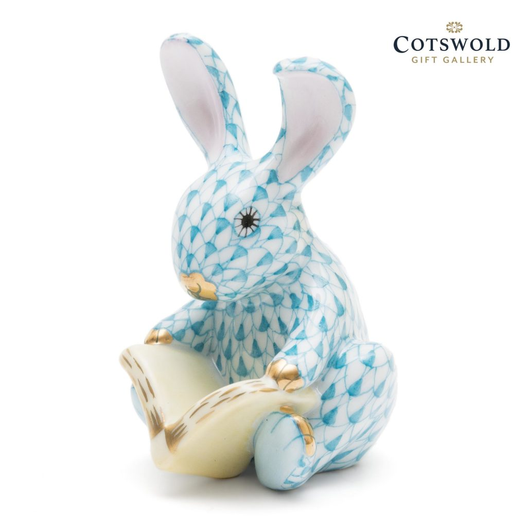 Herend Porcelain Storybook Bunny Turquoise 1 1024x1024