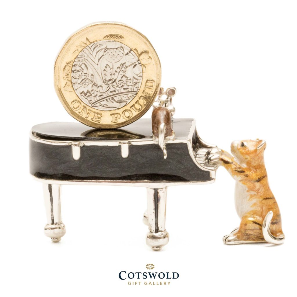 Saturno Silver Animals Cat On Piano 13051 3 1024x1024