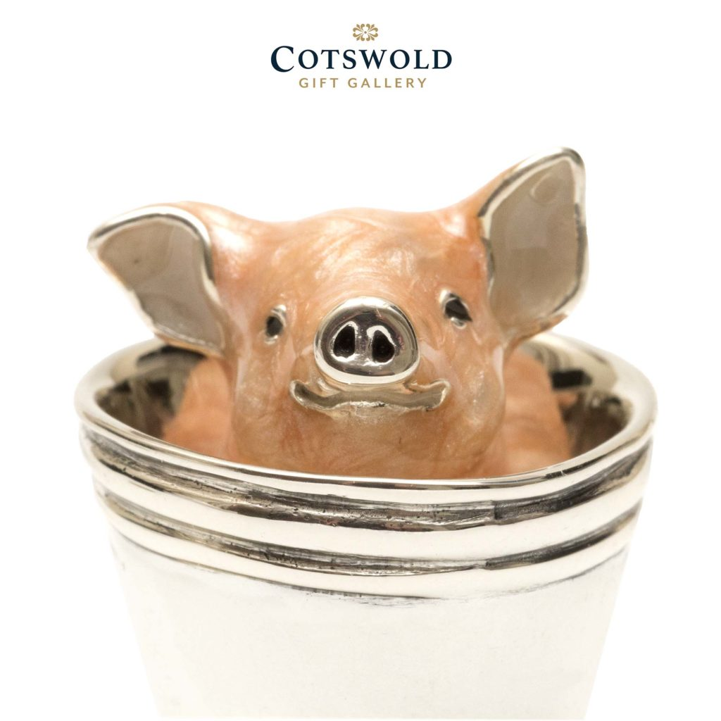 Saturno Silver Animals Piglet In Bucket 11060s 1 1024x1024