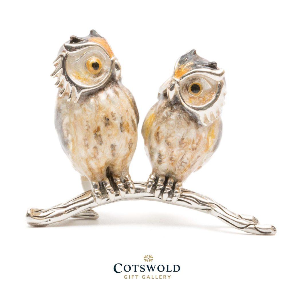 Saturno Silver Animals Owl Twin 13214 1 1024x1024