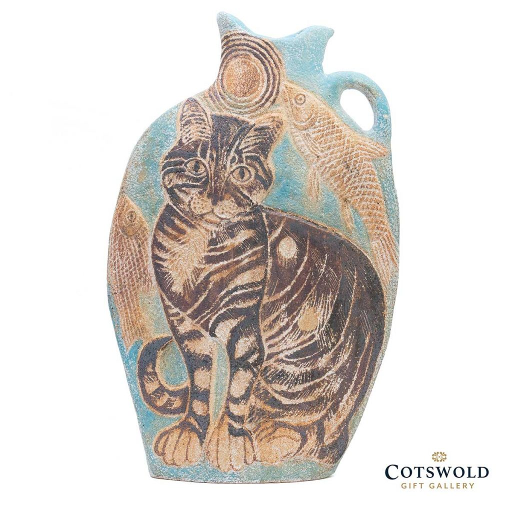 Michele Cowmeadow Cats And Fish Slab Vase 1 1024x1024
