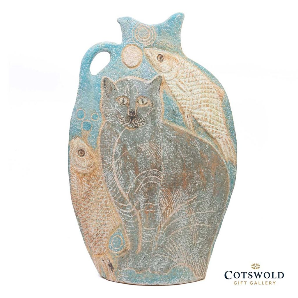 Michele Cowmeadow Cats And Fish Slab Vase 2 1024x1024