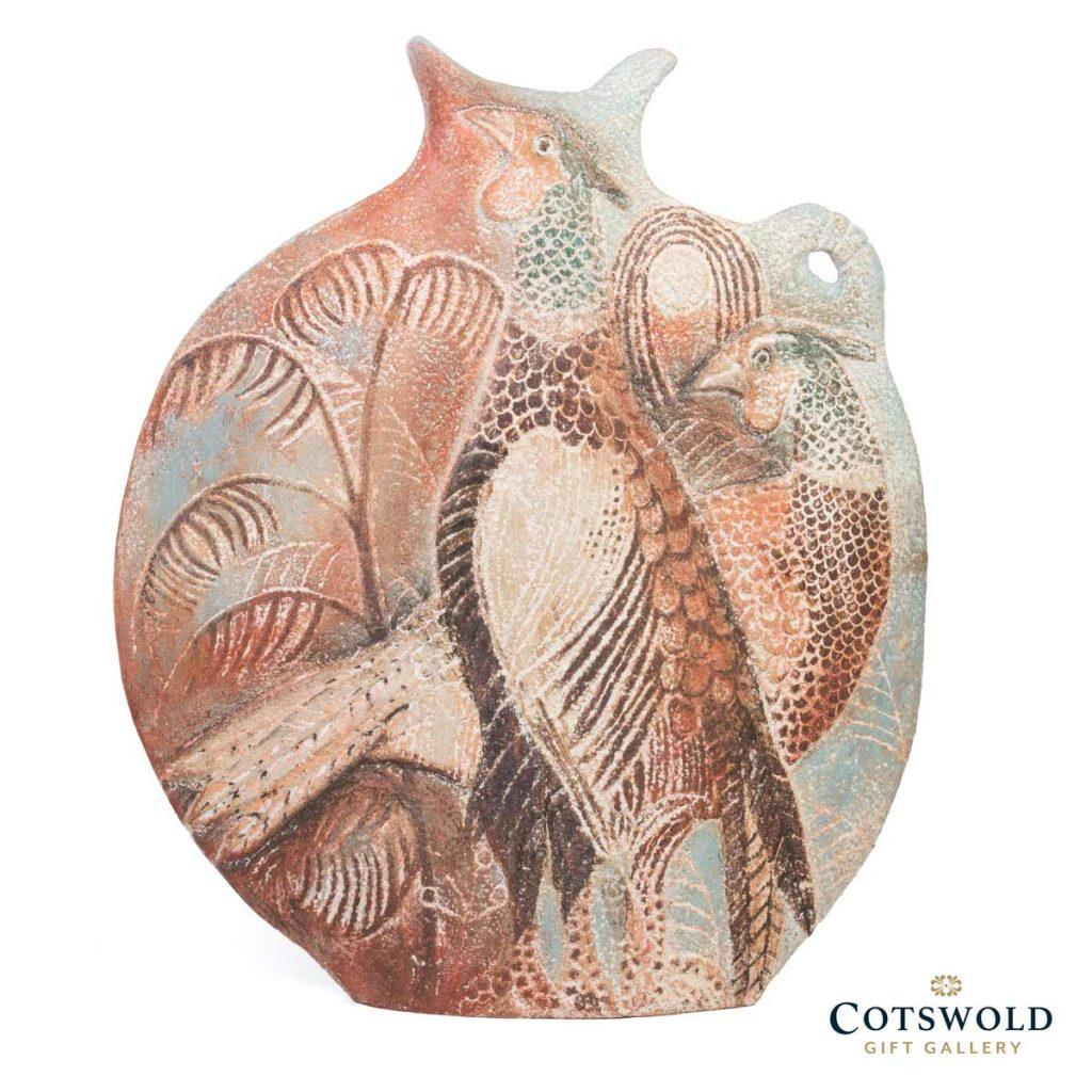 Michele Cowmeadow Pheasants Slab Vase 2 1024x1024