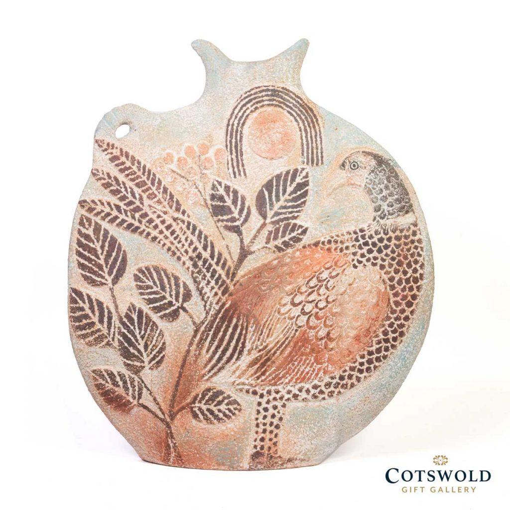 Michele Cowmeadow Pheasants Slab Vase 3 1024x1024