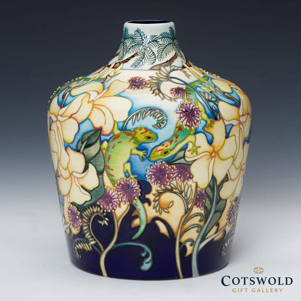 Moorcroft Pottery A Second Calling Frangipani And Friends Vase 164 9 02 1024x1024