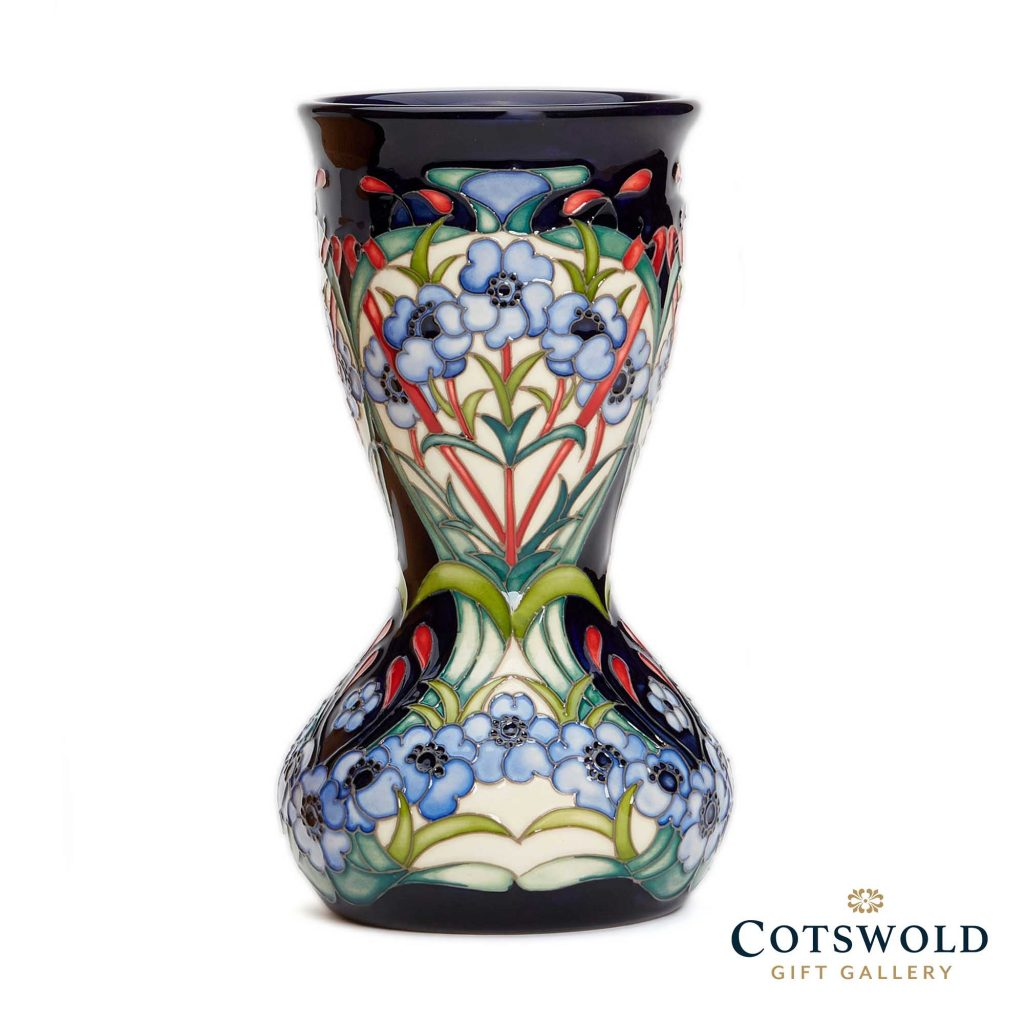 Moorcroft Pottery A Second Calling Symphony In Blue Vase 304 7 1024x1024
