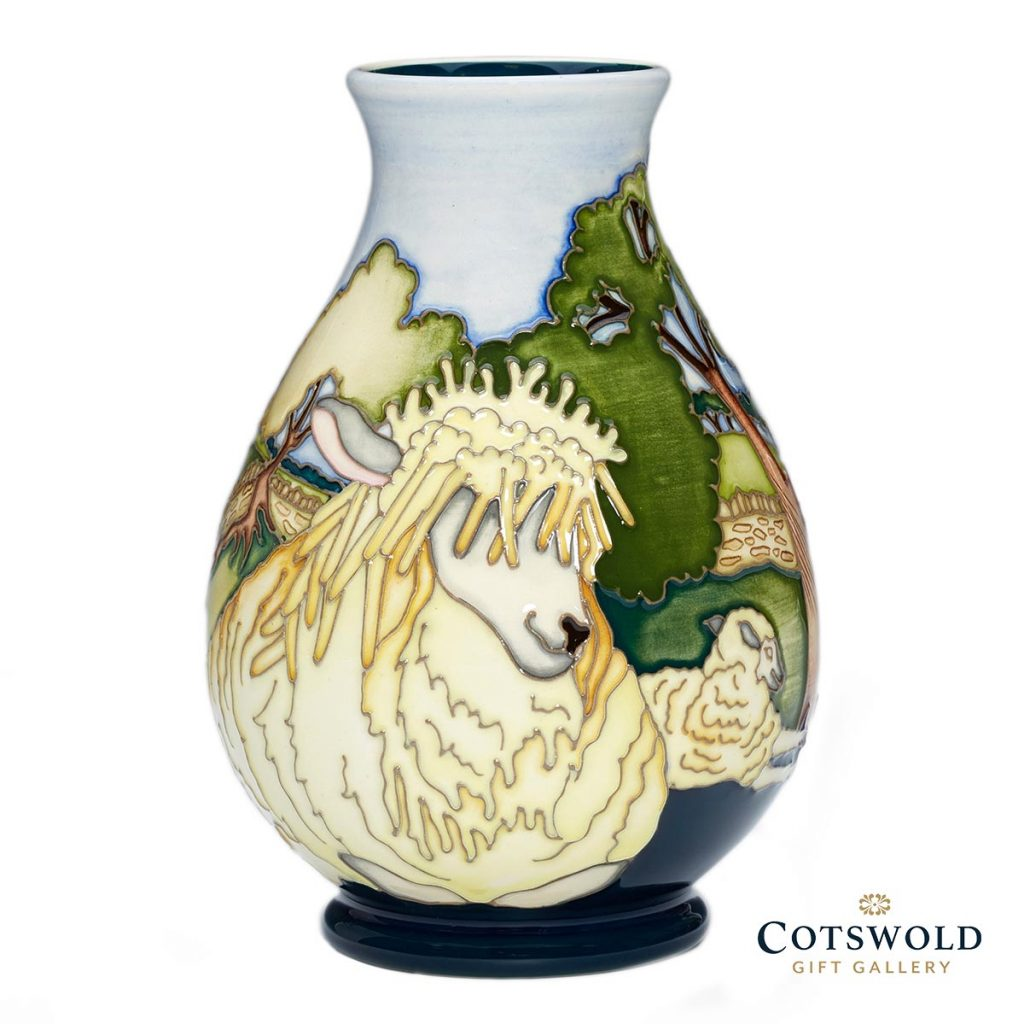Moorcroft Pottery A Second Calling The Flock Vase 7 5 01 1024x1024