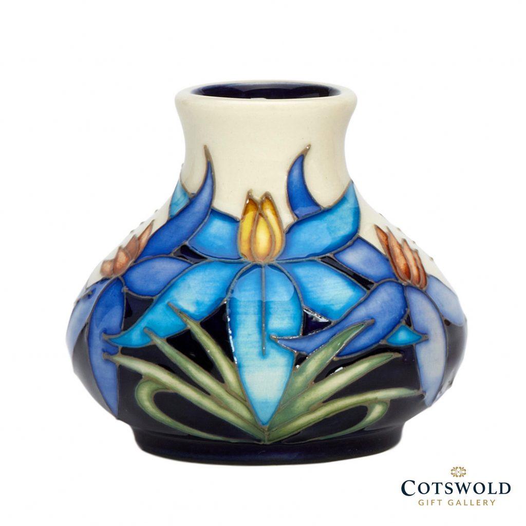 Moorcroft Pottery Blue Tinsel Vase 32 2 1024x1024